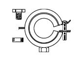 Крепление T-элемента для Regufloor, артикул 1151085, Oventrop