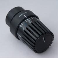 Термостатическая головка Oventrop Uni LH, артикул 1011467, антрацит (черная), 7-28 С, c нулевой отметкой