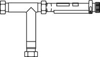 """T-элемент для """"Regufloor H"""" с запор. вентилем и крепежным элементом, Oventrop, артикул 1151080"""