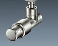 """Вентиль (термостатический клапан) Oventrop серия E (эксклюзивная) угловой Ду15 1/2"""", артикул 1163082, цвет матовая сталь"""