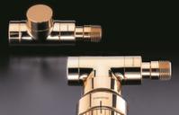 """Вентиль (термостатический клапан) Oventrop серия E (эксклюзивная) прямой Ду15 1/2"""", артикул 1163172, цвет позолоченный"""