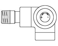 """Вентиль (термостатический клапан) Oventrop серия E (эксклюзивная) угловой трехосевой Ду15 1/2"""", артикул 1163433, цвет антрацит (черный) - правое присоединение"""