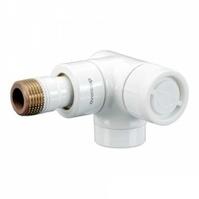 """Вентиль (термостатический клапан) Oventrop серия E (эксклюзивная) угловой трехосевой Ду15 1/2"""", артикул 1163463, цвет белый - правое присоединение"""