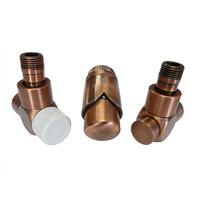 Комплект термостатический SCHLOSSER Exclusive 6017, угловой античная медь, для пластиковой трубы GZ 1/2 х 16х2, арт. 601700143