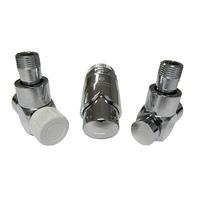 Комплект термостатический SCHLOSSER Exclusive 6017, осевой правый хром, для пластиковой трубы GZ 1/2 х 16х2, арт. 601700117