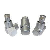 Комплект термостатический SCHLOSSER Exclusive 6017, угловой сатин, для пластиковой трубы GZ 1/2 х 16х2, арт. 601700119