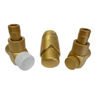 Комплект термостатический SCHLOSSER Exclusive 6017, угловой золото мат., для стальной трубы GZ 1/2 х GW 1/2, арт. 601700161