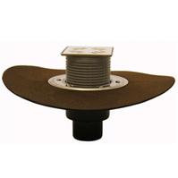 Трап HL для внутренних помещений с решеткой в подрамнике, с полимербитумным гидроизоляционным полотном HL310NH-3000