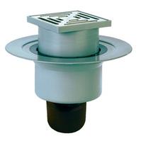 Трап HL для внутренних помещений с решёткой в подрамнике, высотой гидрозатвора 60мм, с вертикальным выпуском HL317