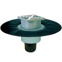 Трап HL для внутренних помещений с решеткой в подрамнике, с полимербитумным гидроизоляционным полотном HL317H