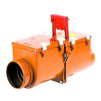HL 2-х камерный механический канализационный затвор с запирающими заслонками из профилированной нержавеющей стали, HL710.2