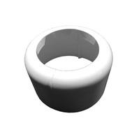Декоративная розетка HL для унитазного патрубка белая, HL7.WE