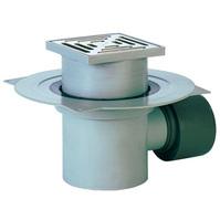 Трап HL для внутренних помещений с решёткой в подрамнике, с сеткой для улавливания мусора, с горизонтальным выпуском HL72.1N