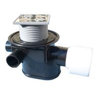 Трап HL для внутренних помещений с механической задвижкой для предотвращения затопления помещения при возникновении подпора в наружной сети, с решеткой в подрамнике HL70