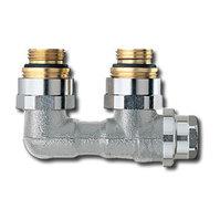 """Heimeier Клапан для нижнего подключения с дренажом VEKOLUX, для двухтрубной системы, Rp 1/2"""", угловой, никел бронза, 0531-50.000"""