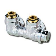 """Heimeier Клапан для нижнего подключения с дренажом VEKOLUX, для двухтрубной системы, G 3/4"""", угловой, никел бронза, 0533-50.000"""