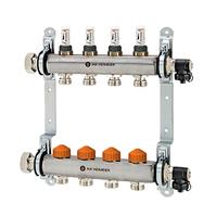 Распределительный коллектор Heimeier Dynacon Eclipse с автоматическим регулированием расхода, расходомерами и термостатическими вентилями, 10 контуров, 9340-10.800