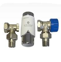 Комплект Standard 6022 угловой SCHLOSSER DN15 GZ1/2 x GW1/2 с термоголовой 600200001, арт. 602200005