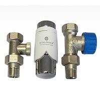 Комплект Standard 6022 проходной SCHLOSSER DN15 GZ1/2 x GW1/2 с термоголовой 600200001, арт. 602200006