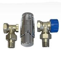 Комплект Standard 6022 угловой SCHLOSSER DN15 GZ1/2 x GW1/2 с термоголовой 600200003, арт. 602200007