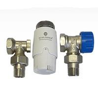 Комплект Standard 6022 угловой SCHLOSSER DN15 GZ1/2 x GW1/2 с термоголовой 600100030, арт. 602200009