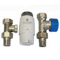 Комплект Standard 6022 проходной SCHLOSSER DN15 GZ1/2 x GW1/2 с термоголовой 600100030, арт. 602200010