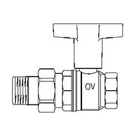 "Шаровой кран Oventrop Optibal с американкой, 1 1/4"", артикул 1075710"