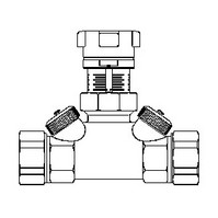 """Запорный вентиль  Oventrop """"Hycocon ATZ"""" PN16 Ду 15 3/4"""" НГ латунь, Арт. 1067404"""