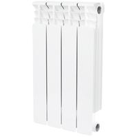 Радиатор биметаллический STOUT Space 500 4 секции, боковое подключение, SRB-0310-050004