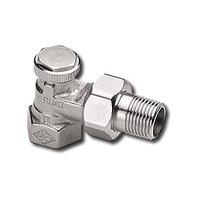 """Heimeier Радиаторный запорно-регулирующий клапан REGUTEC,  DN10(3/8""""), угловой, никелированная бронза, 0355-01.000"""