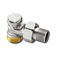 """Heimeier Радиаторный запорно-регулирующий клапан REGUTEC,  DN15(1/2""""), с наружной резьбой G 3/4"""", угловой, никел бронза, 0365-02.000"""