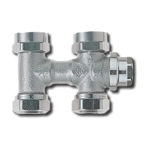 """Heimeier Клапан для нижнего подключения с дренажом VEKOLUX, для однотрубной системы, G 3/4"""", проходной, никел бронза, 0536-50.000"""